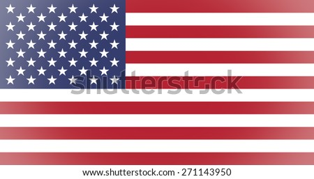 Vignetted American flag of the United States of America
