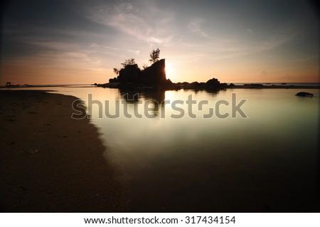 Vignetted sunrise photo for stock - stock photo