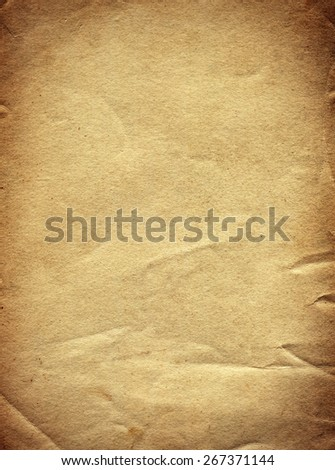 Vignetting Photo of the Old and Vintage Paper - stock photo