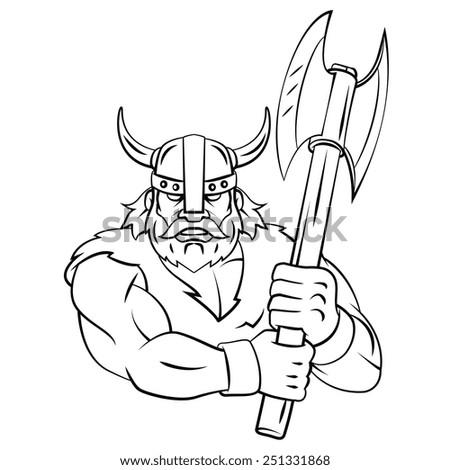 Viking Axe - stock photo