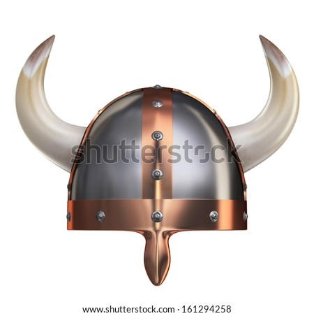 Viking Helmet II. Clipping path - stock photo
