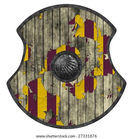 viking shield - stock photo