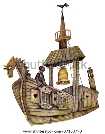 Viking ship - stock photo