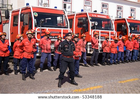 VILA REAL SANTO ANTONIO, PORTUGAL -MAY 15 ,Ceremony of delivery of awards to the best firemen, physicians, military on May 15, 2010 in Algarve, Portugal