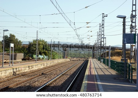 VILCHES, SPAIN - AUGUST 14, 2016: Vilches train station.