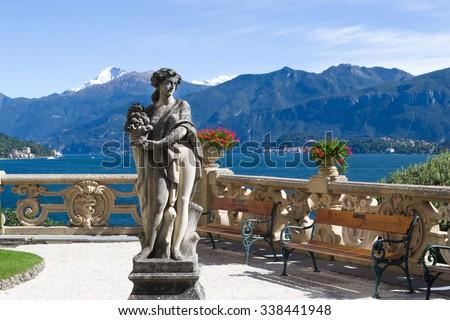 Villa Balbianello. Italy. - stock photo