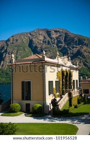 Villa Balbianello on Lake Como in northern Italy - stock photo