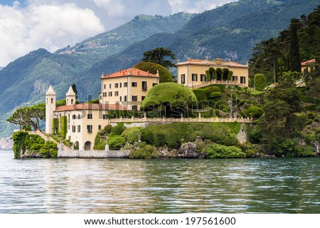 Villa del Balbianello at Lake Como, Lenno, Lombardia, Italy - stock photo