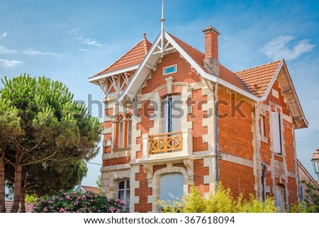 Villa in Soulac-sur-Mer, France - stock photo