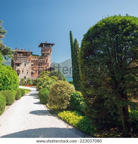 Villa La Gaeta, San Siro, Lake Como, Italy, Europe - stock photo