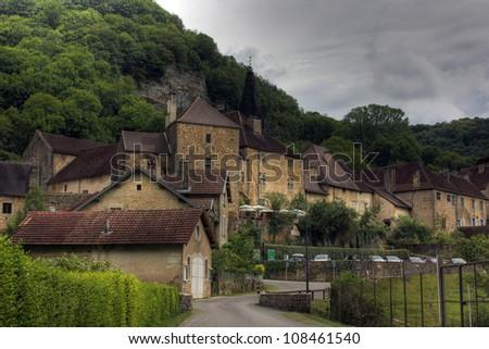 Village Baume les Messieurs, Burgundy - France - stock photo