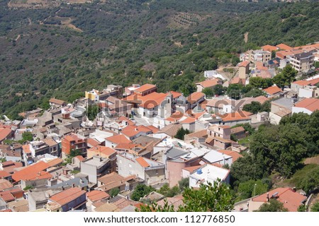 Village Baunei, Sardinia, Italy - stock photo