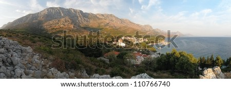 village Blato on Makarska riviera in Croatia