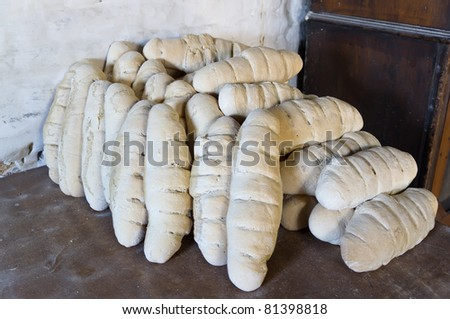 village bread - stock photo