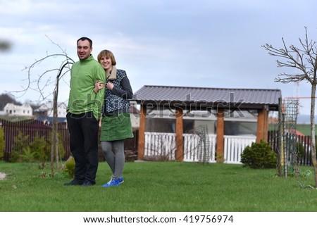 Village Family - stock photo