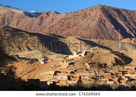 Village in High Atlas, Morocco - stock photo