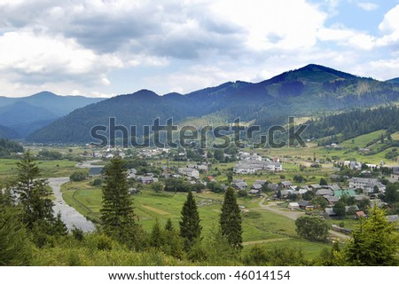 Village in mountains