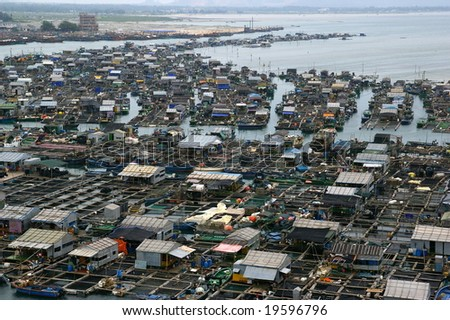Village in the Sea in China