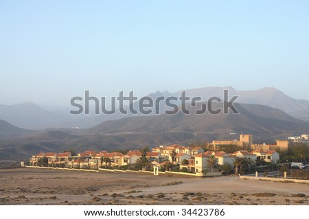 Village La Pared. Canary Island Fuerteventura, Spain