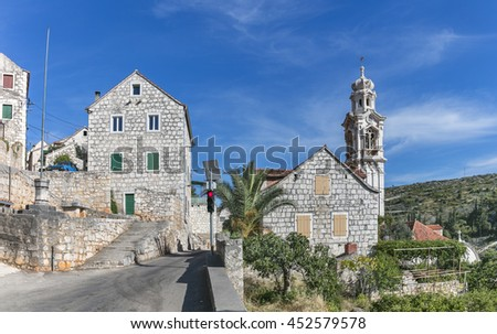 Village Lozisca on island Brac in Dalmatia, Croatia