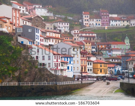 Village of Cudillero in Asturias, Galicia, Spain.