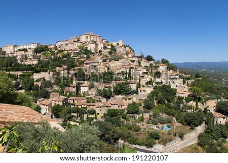 Village of Gordes in the Luberon, Provence, France.