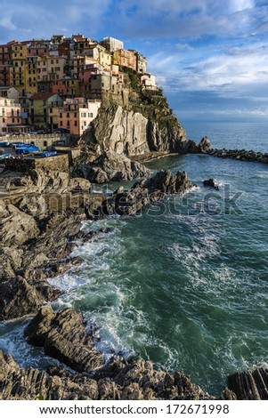 Village of Manarola, 5 terre, Italy