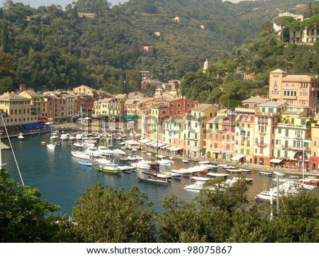 village of Portofino in Liguria, Italy