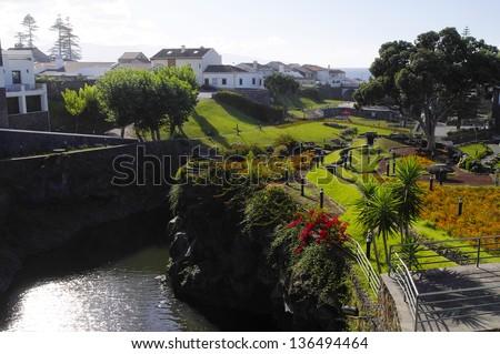 Village of Ribeira Grande in azores archipelago, Sao Miguel, Azores, Portugal - stock photo