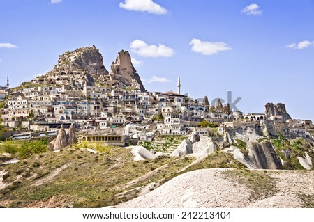 Village of Uchisar, Cappadocia, Turkey