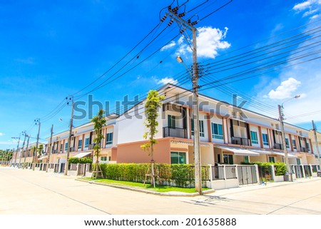 Village Townhome - Townhouse - stock photo