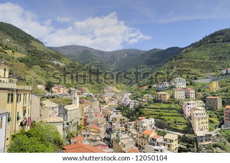 Villages on coast of La Spezia province in Luguria, Italy