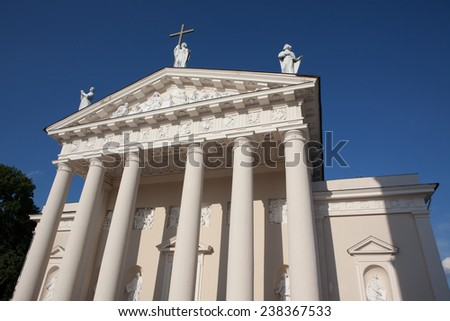 Vilnius Cathedral, the main Roman Catholic Cathedral of Lithuania