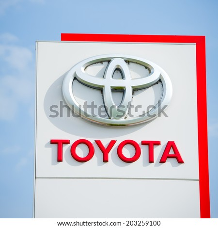 Vilnius July 6 Toyota Logo On Stock Photo 203259100