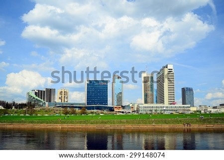 VILNIUS, LITHUANIA - APRIL 28: Spring in Vilnius city centre on April 28, 2015, Vilnius, Lithuania.