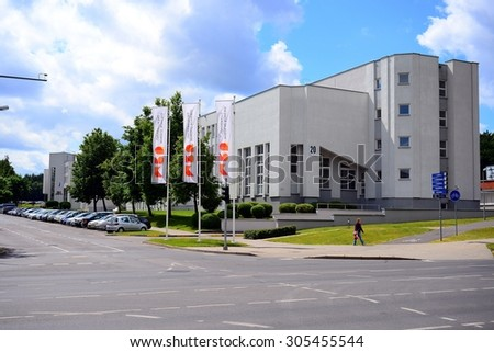 VILNIUS, LITHUANIA - JUNE 26: Mykolas Romeris University in Vilnius city on June 26, 2015, Vilnius, Lithuania.