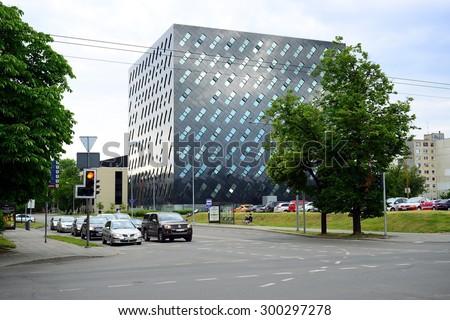 VILNIUS, LITHUANIA - JUNE 25:  Prosecutor's Office in Lithuania Vilnius city center on June 25, 2015, Vilnius, Lithuania. - stock photo