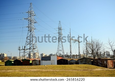 VILNIUS, LITHUANIA - MARCH 17: Electric energy plants in Vilnius city Justiniskes district on March 17, 2015, Vilnius, Lithuania.