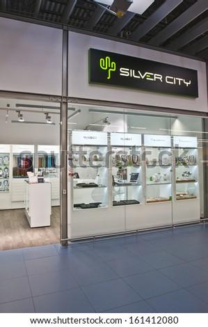 VILNIUS, LITHUANIA - OCTOBER 24: SILVER CITY company on October 24, 2013 in Vilnius, Lithuania. - stock photo
