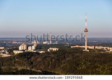 Vilnius TV tower - stock photo