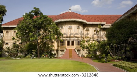 Vimanmek - Dusit Palace. The word's largest golden teakwood mansion. Royal palace in Bangkok
