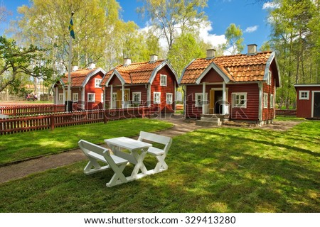 VIMMERBY, SWEDEN - May 16 - Astrid Lindgren's World (Astrid Lindgrens Värld) is a theme park located in Astrid Lindgren's native city Vimmerby in Sweden-photo taken 16 MAY 2014. - stock photo