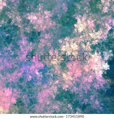 vinage background flowers, green, blue, purple - stock photo