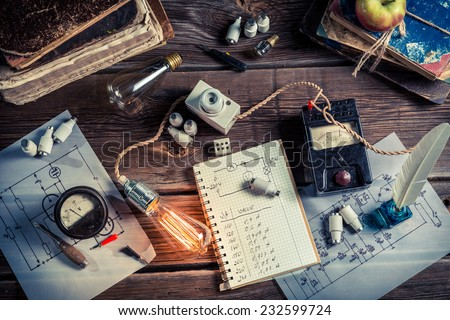 Vinateg physics Laboratory in technical electrical - stock photo