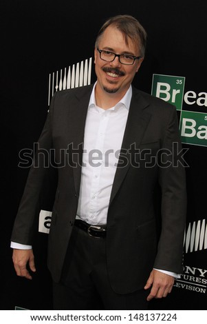 "Vince Gilligan at the ""Breaking Bad"" Special Premiere Event, Sony Studios, Culver City, CA 07-24-13 - stock photo"