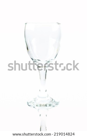 Vine glass on white background