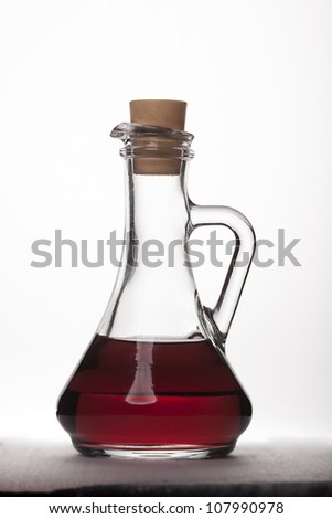 vinegar bottle - stock photo