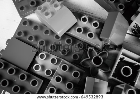 Vinnitsa, Ukraine - January 15, 2017: Lego blocks - plastic construction toy -manufactured by The Lego Group based in Billund, Denmark - illustrative editorial