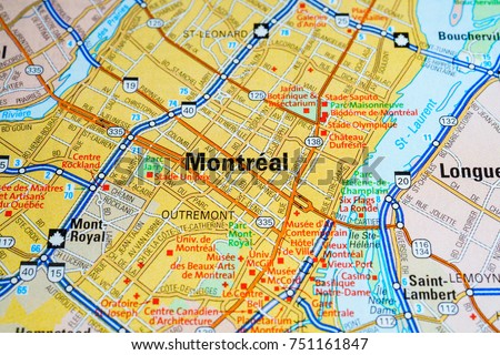 Montreal City Map Stock Images RoyaltyFree Images Vectors - Montreal canada map