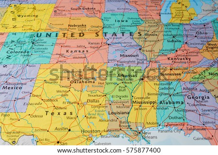 Us Road Map Stock Images RoyaltyFree Images Vectors Shutterstock - Us map houston